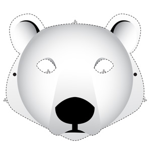 Animal mask activity pages wwf polar bear mask maxwellsz