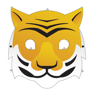 photograph relating to Tiger Mask Printable called Animal Mask Recreation Web pages WWF