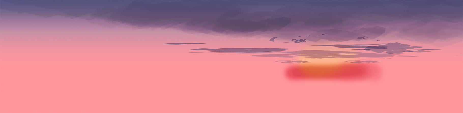 pink and purple illustrated sunset