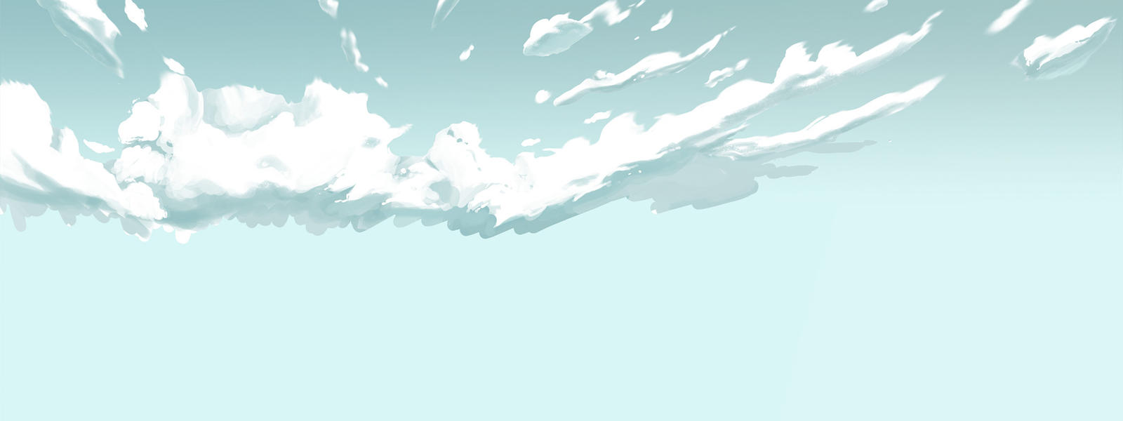 illustration of blue sky and clouds