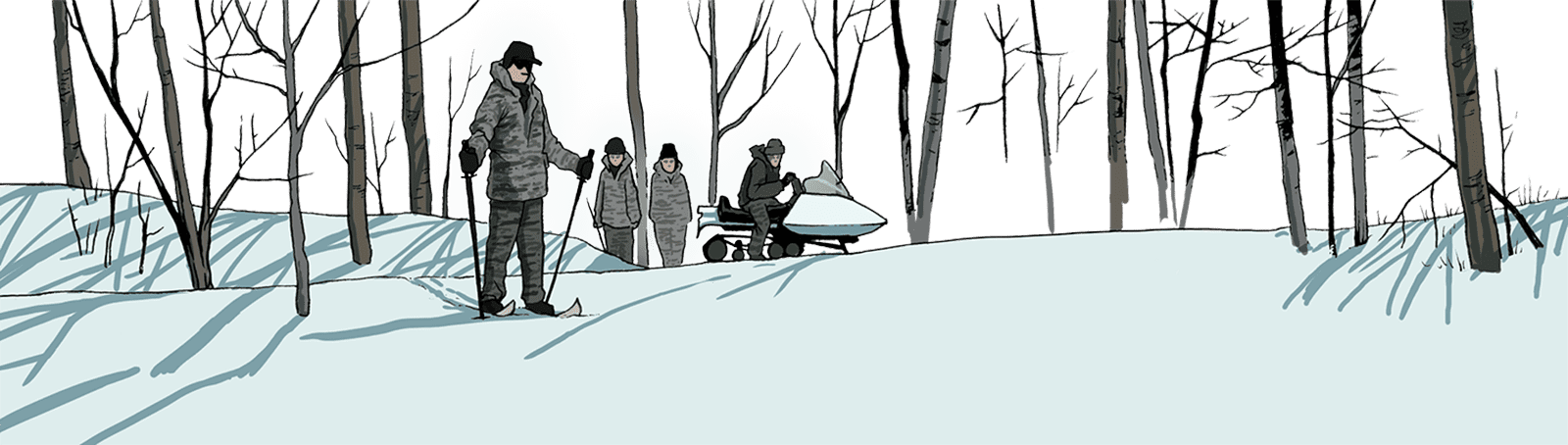 researchers in snow
