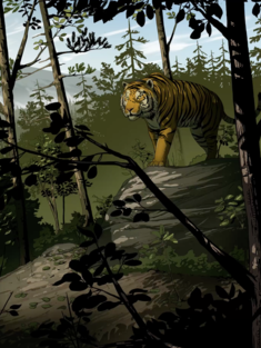 Uporny tiger splash fallback
