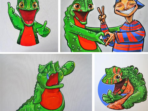 crocodile lizard comic strip