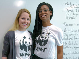 Panda Ambassadors Laura Miller and Tiffany Jones
