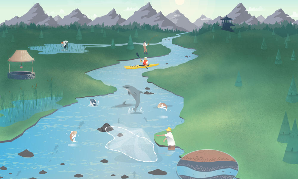 Background illustration Free Flowing Rivers