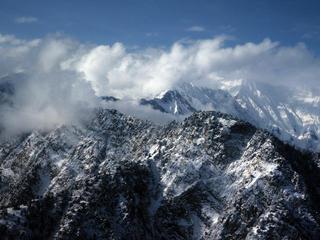 High mountains in Bhutan