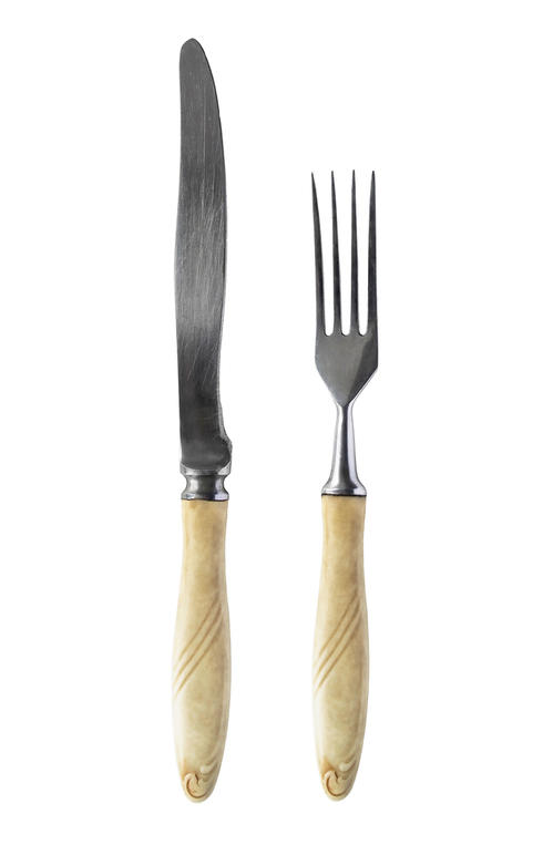 Ivory knife and fork