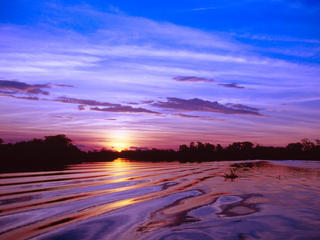 Pantanal at sunset