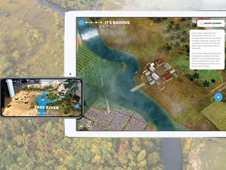 Screenshots from WWF Free Rivers app