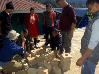 creating cookstoves in Sikkim, India