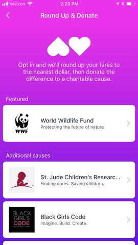 Screenshot of app outlining how you select WWF