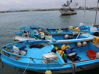 Fishing vessels in Ecuador