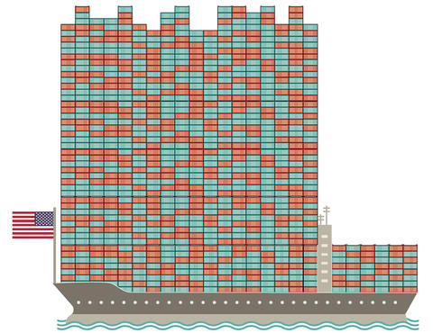 Rock Lobster Container Shipping Graphic