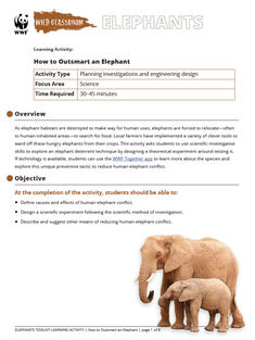 Wild Classroom Elephant Science Activity Preview Page