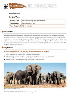 Wild Classroom Elephant Language Arts Activity Preview Page