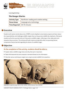 Wild Classroom Elephant Language Arts Tech Activity Preview Page