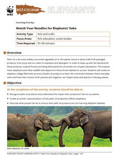 Wild Classroom Elephant Arts Education Activity Preview Page