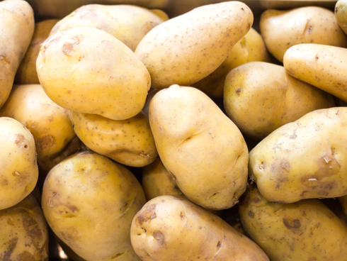Close up of potatoes