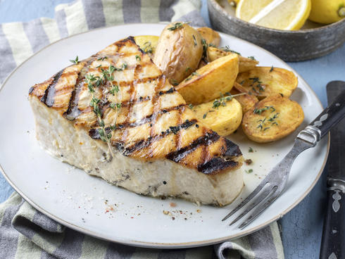 Swordfish steak dish