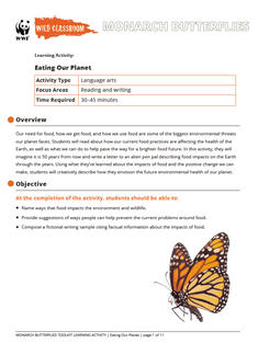 Wild Classroom Monarch Butterfly Language Arts Activity Preview Page