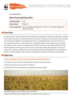 Wild Classroom Monarch Butterfly Science Activity Preview Page