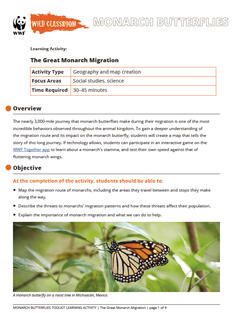 Wild Classroom Monarch Butterfly Social Studies Activity Preview Page