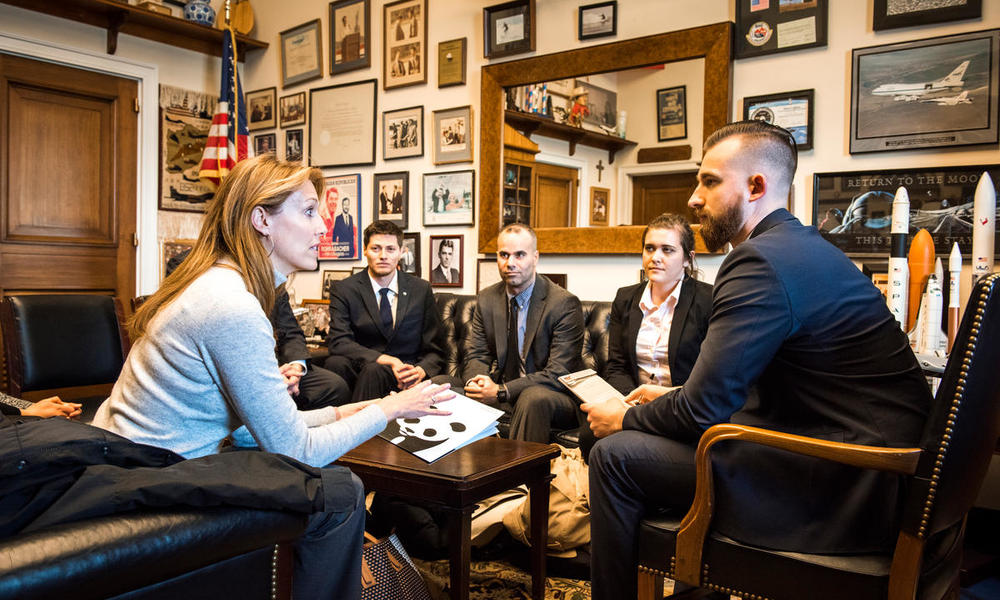 Lobby Day participants from California meet with congressional staff.