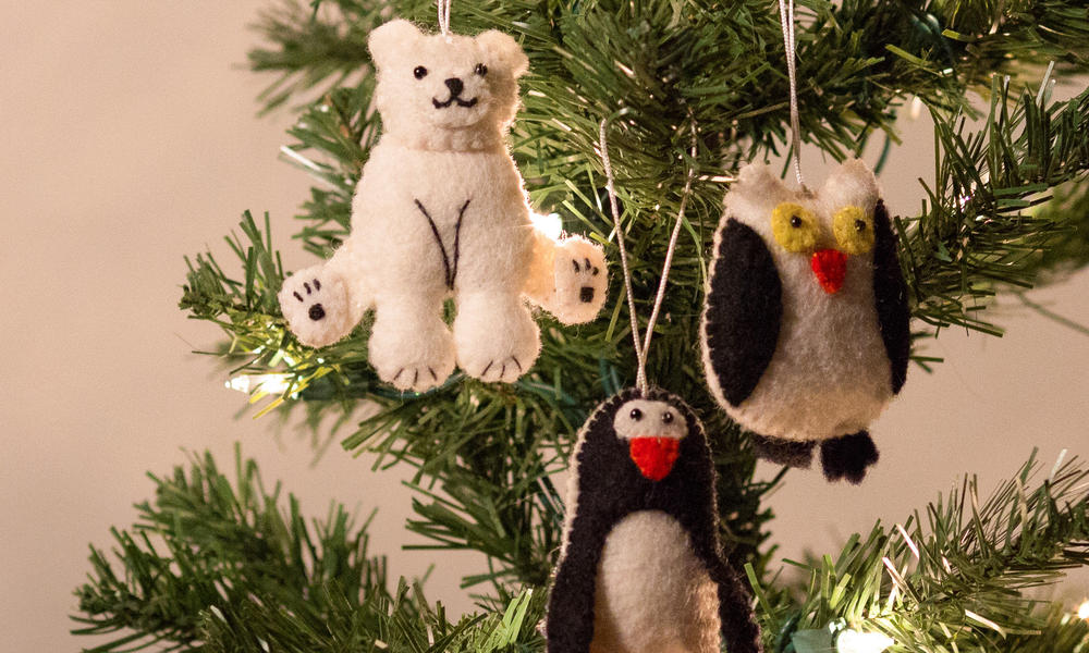 ornaments on a tree