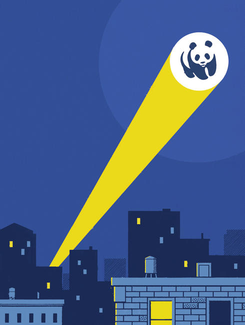WWF signal above city