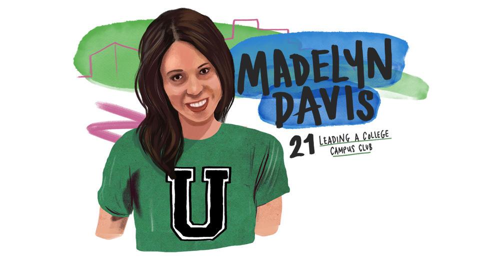 Madelyn Davis 21 leading a college campus club