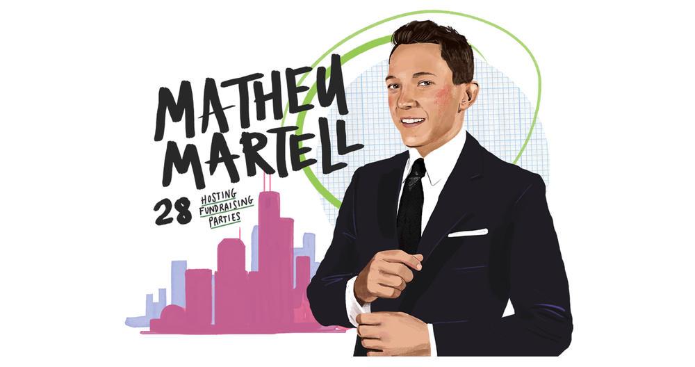 Matheu Martell 28 hosting fundraising parties