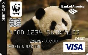 Bank of America Panda Checking Card