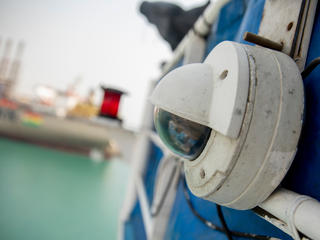 close-up of camera used to monitor vessels