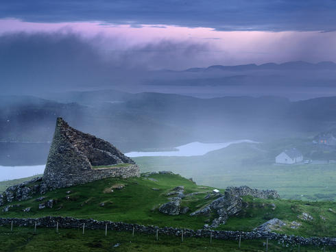 Valley in the Shiant Isles, Scotland