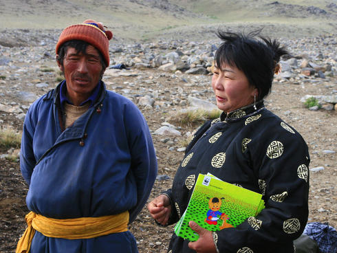 Herder and his wife, Mongolia
