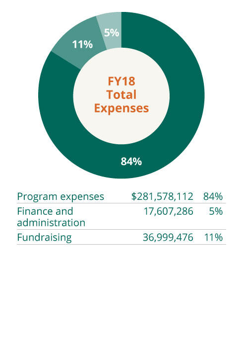 2018 Total Expenses pie chart