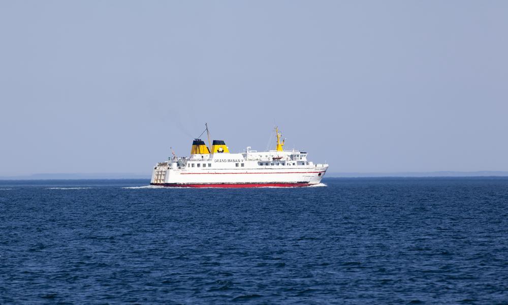 Car ferry, Bay of Fundy, New Brunswick, Canada