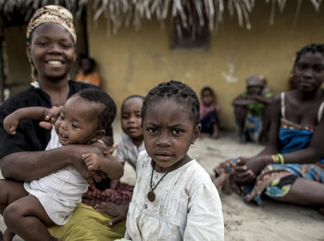 Women with children in Mozambique