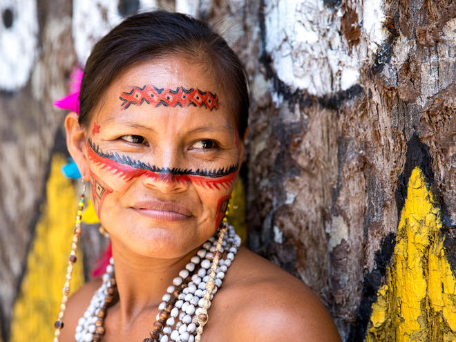 Brazilian Indian in Amazon, Brazil.