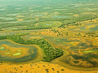 Aerial view of Pantanal in Brazil.