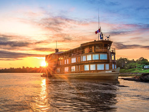 Great Amazon river cruise boat