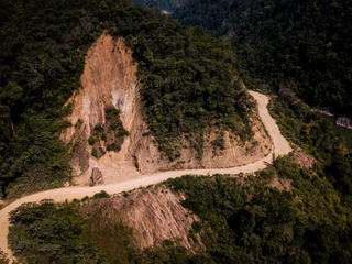 Dawei Road cutting around a mountainside