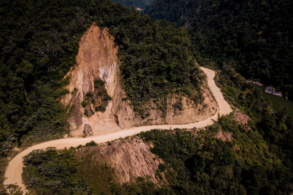 Dawei Road cutting around a mountainside
