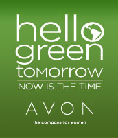 Avon Hello Green Tomorrow Logo