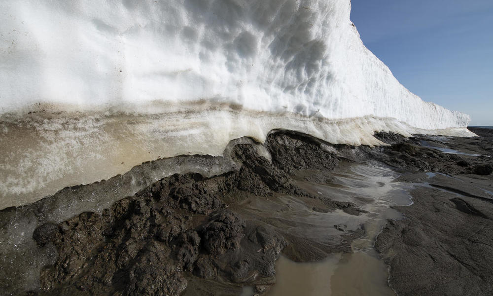 Permafrost thawing in Alaska