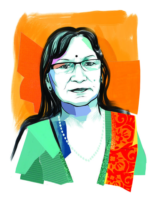 illustrated portrait of Ila Shrestha