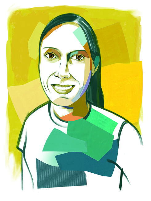 illustrated portrait of Araceli Samaniego