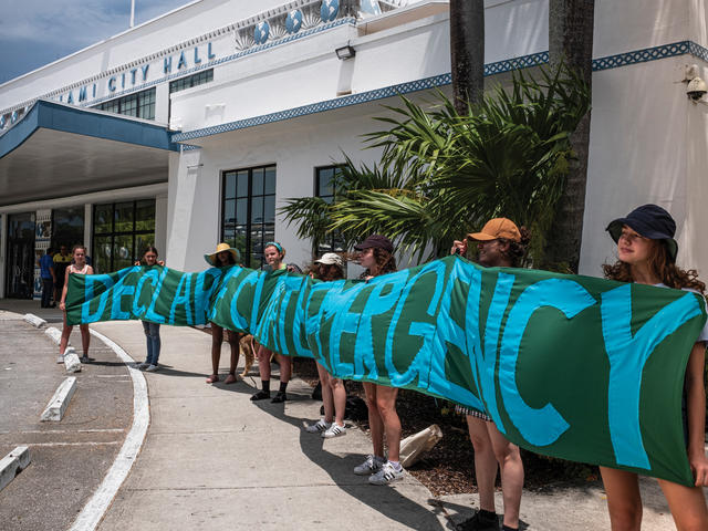 Climate protest in Miami