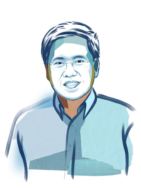 illustrated portrait of Teak Seng