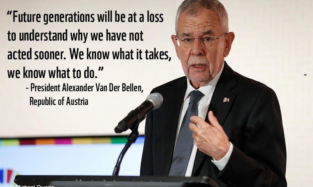 Alexander Van Der Bellen of Austria at UNGA